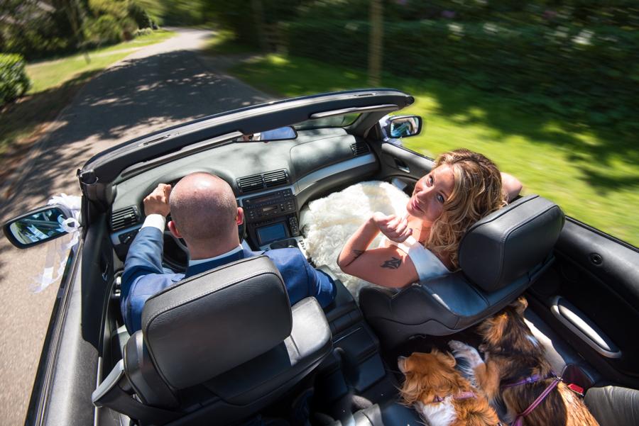Fearless Huwelijk bruidsfotografie Maarn naar mooie huwelijkslocatie Raadhuis Maarn
